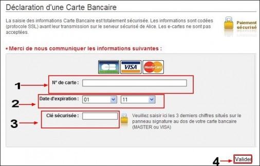 modifier ses informations bancaires chez alice 4
