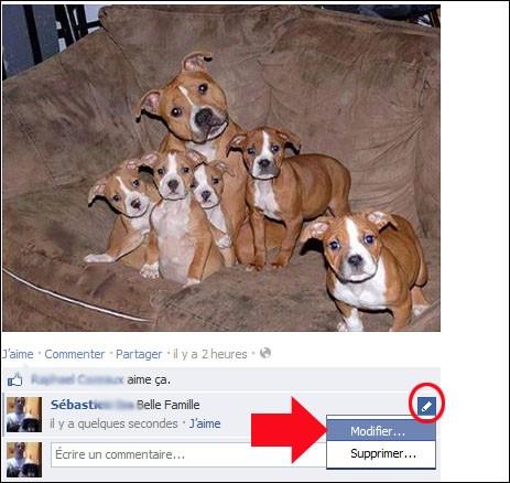 modifier un commentaire facebook 1