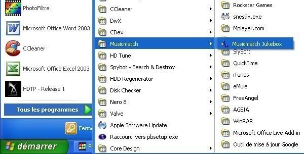 musicmatch jukebox extraire des fichiers audio de cd dans le format mp3 1