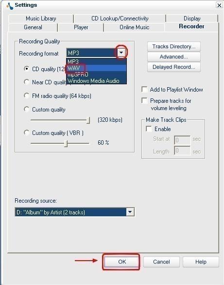musicmatch jukebox extraire des fichiers audio de cd en wav 5