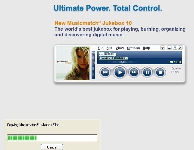 musicmatch jukebox telechargement installation presentation 11