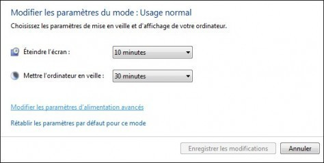 options d alimentation de windows 7 3
