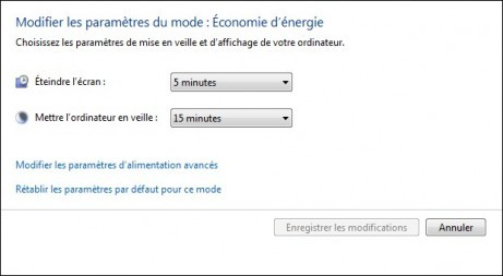 options d alimentation de windows 7 5