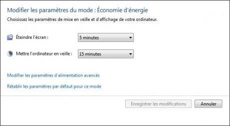 options d alimentation de windows 7 5