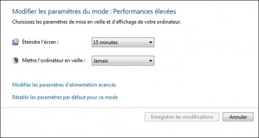 options d alimentation de windows 7 6