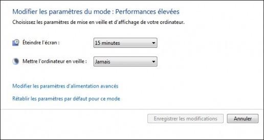 options d alimentation de windows 7 6