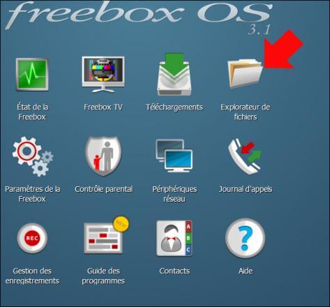partage disque sur freebox revolution 1