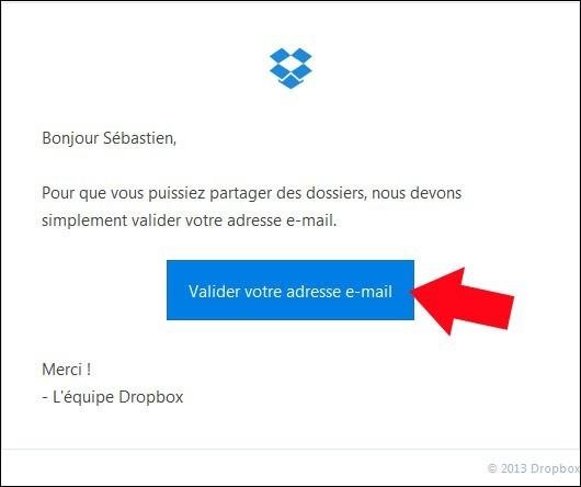 partager un dossier avec dropbox 6