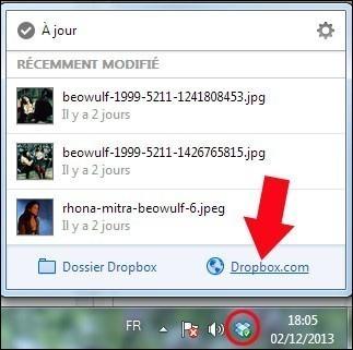 partager un dossier avec dropbox 1