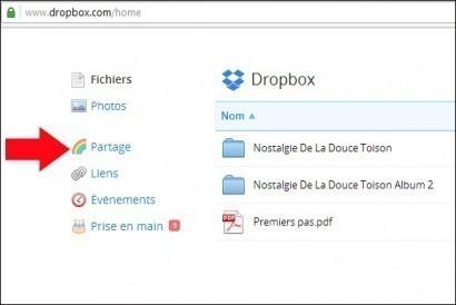 partager un dossier avec dropbox 2
