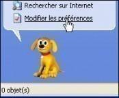 rechercher fichier dossier avec windows xp