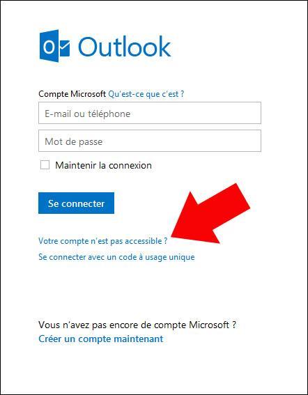Récupérer son mot de passe Hotmail