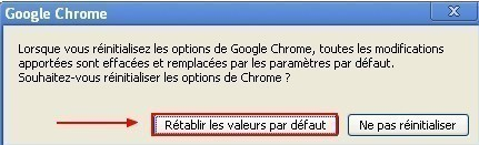 reinitialiser google chrome 2