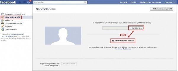 remplir et gerer son profil sur facebook 3