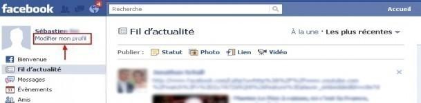 remplir et gerer son profil sur facebook 0