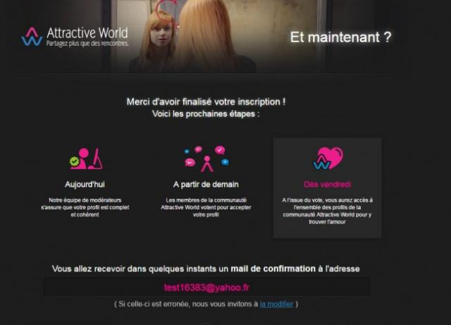 s inscrire sur attractive world 0