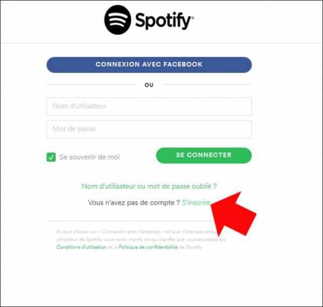s inscrire sur spotify 2