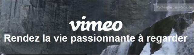 S'inscrire sur Vimeo