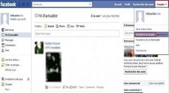 Sauvegarder ses données de profil Facebook