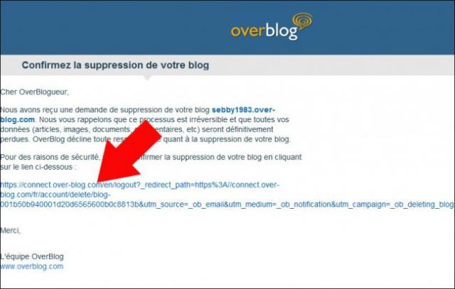 se desinscrire de overblog 6