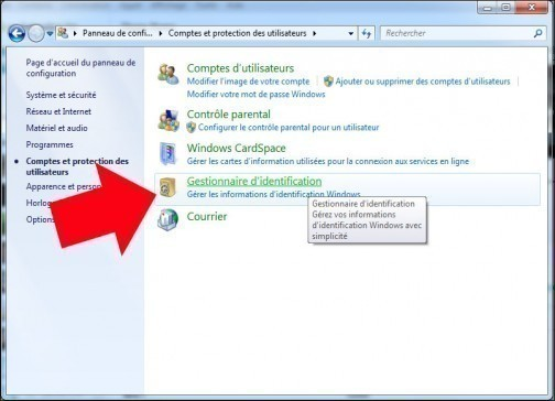 supprimer des informations d identification windows 7 3