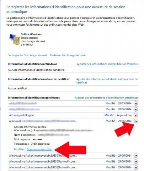 supprimer des informations d identification windows 7 4
