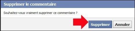 supprimer un commentaire sur facebook 2