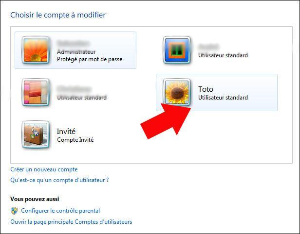 supprimer un compte utilisateur windows 7 3