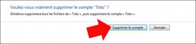supprimer un compte utilisateur windows 7 6