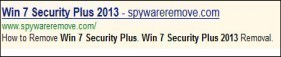 Supprimer Win 7 Security Plus 2013