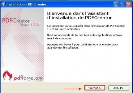 telechargement et installation de pdfcreator 5