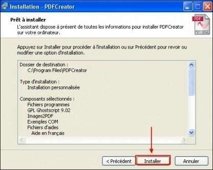 telechargement et installation de pdfcreator 14