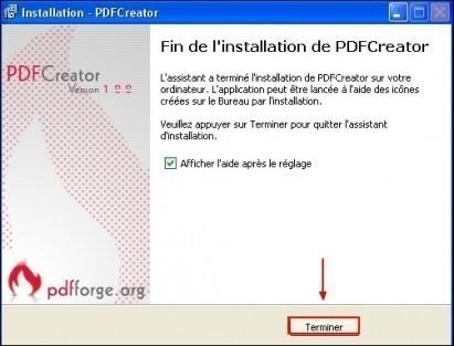 telechargement et installation de pdfcreator 15