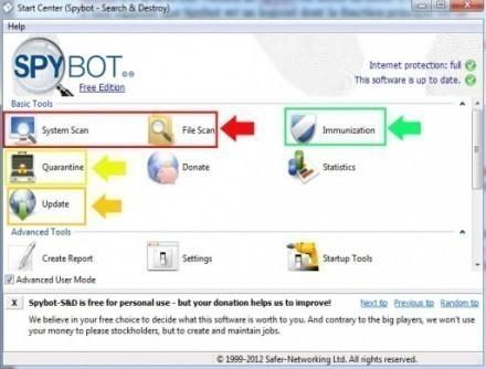 telechargement et utilisation de spybot 2 0 1