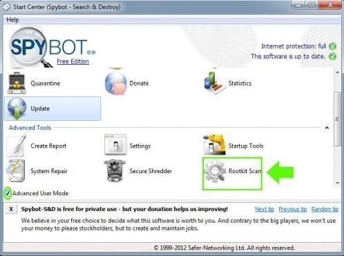 telechargement et utilisation de spybot 2 0 7