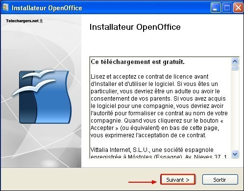 telecharger et installer openoffice 4