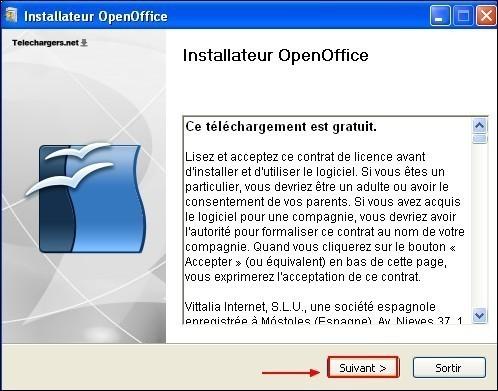 telecharger et installer openoffice 4