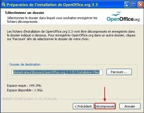 telecharger et installer openoffice 9