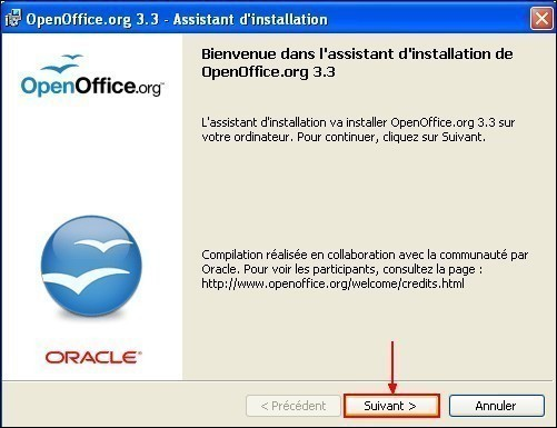 telecharger et installer openoffice 11