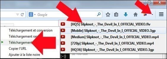 telecharger une video internet avec downloadhelper 4