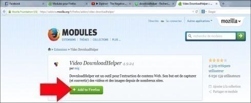telecharger une video internet avec downloadhelper 1