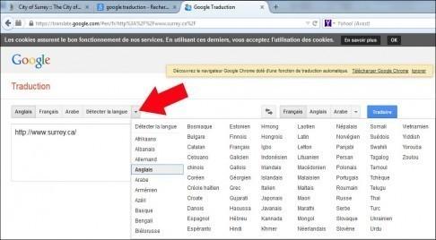 traduire une page web avec google 6