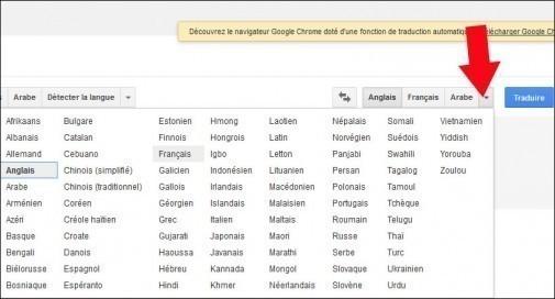 traduire une page web avec google 7