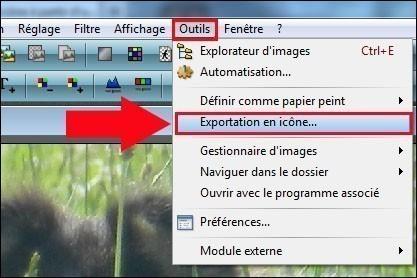 transformer une image en icone avec photofiltre 1