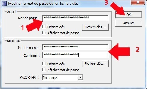 truecrypt modifier le mot de passe de la partition securisee 3