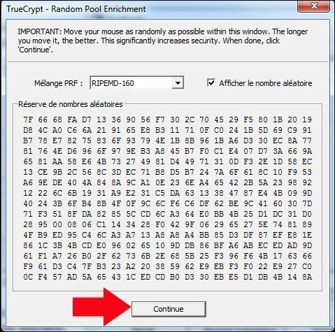 truecrypt modifier le mot de passe de la partition securisee 4