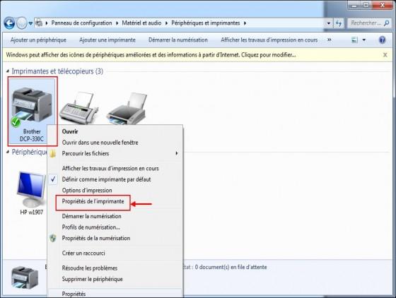 windows 7 partager une imprimante 2
