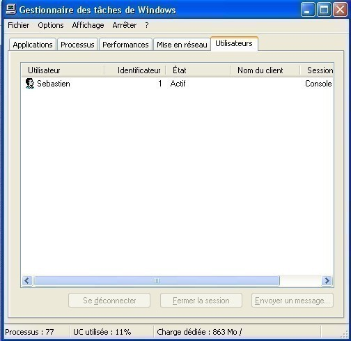 windows xp fermer la session d un utilisateur 2