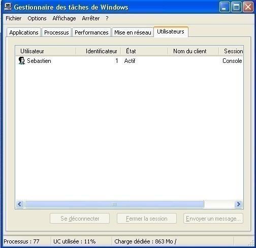 windows xp fermer la session d un utilisateur 2