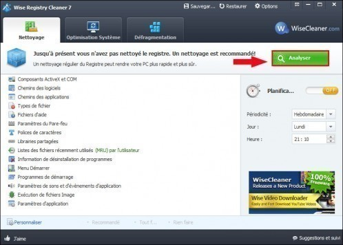 wise registry cleaner nettoyer le registre 3